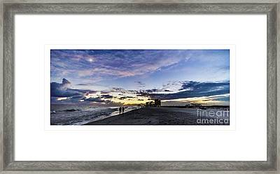 Moonlit Beach Sunset Seascape 0272b1 Framed Print