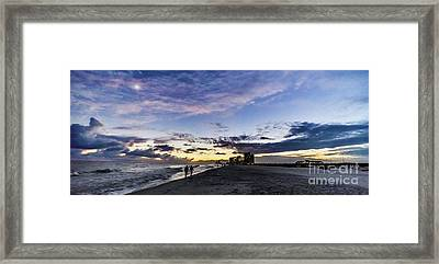 Moonlit Beach Sunset Seascape 0272c Framed Print