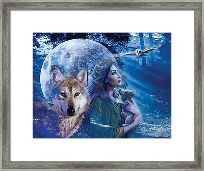 Moonlit Brethren Variant 1 Framed Print by Andrew Farley