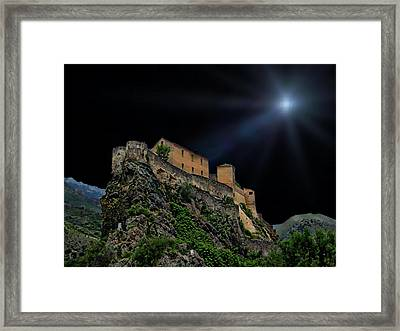 Moonlit Castle Framed Print by Anthony Dezenzio