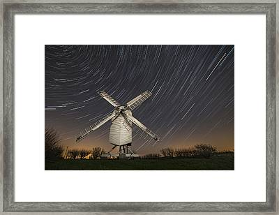Moonlit Chillenden Windmill Framed Print