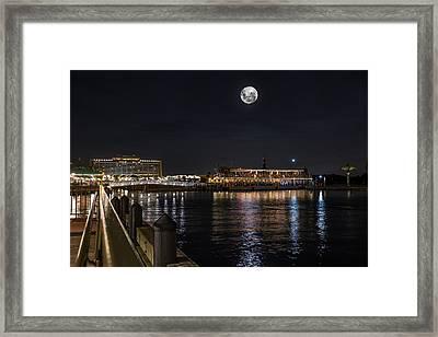Moonlit Disney Contemporary Resort Framed Print