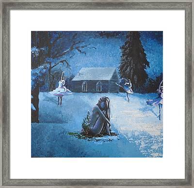 Moonlit Dream Framed Print by Julia Ranson