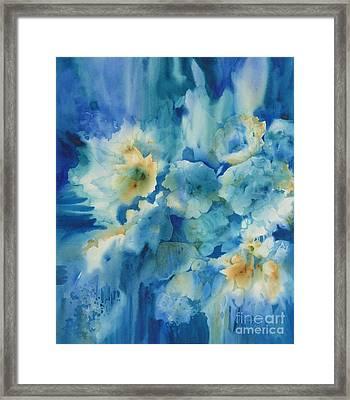 Moonlit Flowers Framed Print