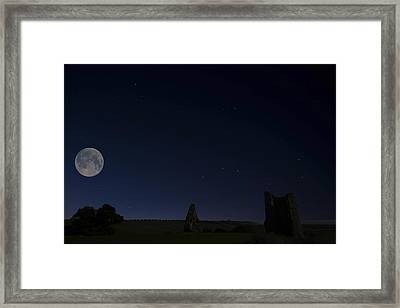 Moonlit Hadleigh Castle Framed Print by David French
