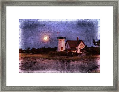 Moonlit Harbor Framed Print by Patrice Zinck