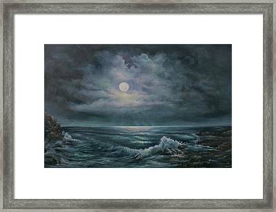 Moonlit Seascape Framed Print