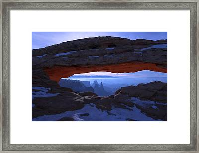 Moonlit Mesa Framed Print