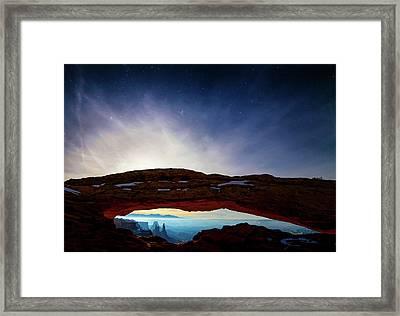 Moonlit Mesa Framed Print by Peter Irwindale