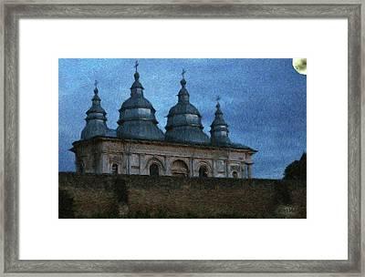 Moonlit Monastery Framed Print