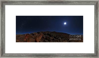 Moonlit Night, Atacama Desert, Chile Framed Print by Babak Tafreshi