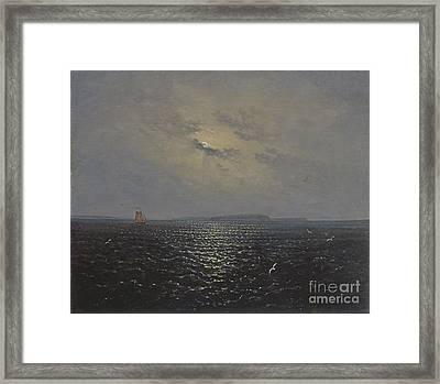 Moonlit Night By Ruegen Framed Print by Celestial Images
