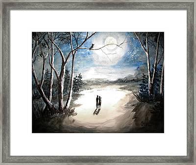 Moonlit Night Sweet Memory Framed Print by Shashikanta Parida
