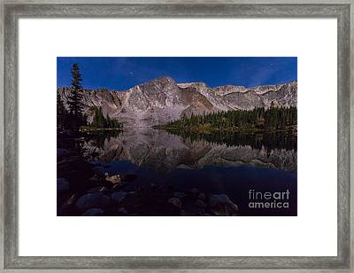 Moonlit Reflections  Framed Print by Steven Reed