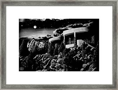 Moonlit Sadona Clubhouse Framed Print