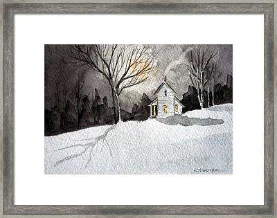 Moonlit Snow Framed Print