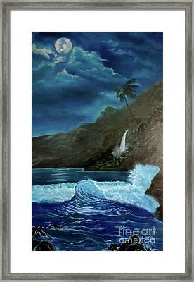 Moonlit Wave Framed Print