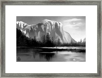 Moonlit Yosemite Lake Framed Print