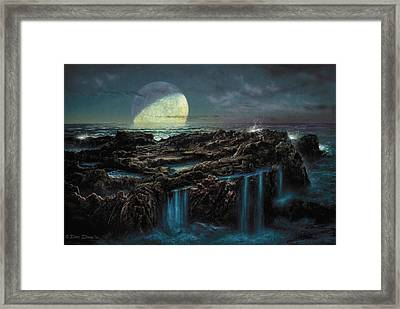 Moonrise 4 Billion Bce Framed Print by Don Dixon