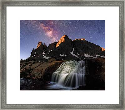 Moonrise At Cirque Of The Towers. Framed Print