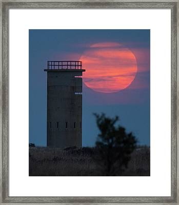 Framed Print featuring the photograph Moonrise At Gordons Pond by Robert Pilkington