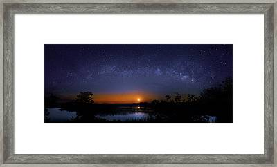 Moonrise At Milky Way Creek Framed Print by Mark Andrew Thomas