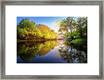 Moonrise At Sunset Framed Print