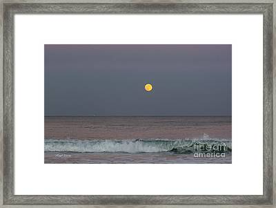 Framed Print featuring the photograph Moonrise At Sunset by Michelle Wiarda