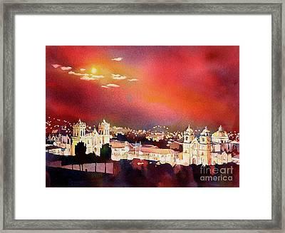 Moonrise Cusco- Peru Framed Print