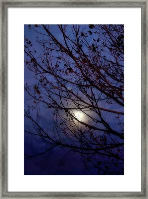 Framed Print featuring the photograph Moonrise by Ellen Heaverlo