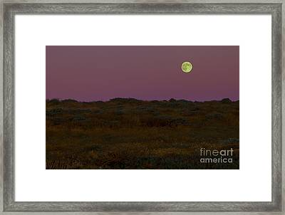 Moonrise In Bodega Bay Framed Print