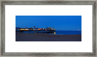 Moonrise In Old Orchard Beach Framed Print by David Bishop