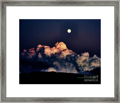 Moonrise In Taos Framed Print