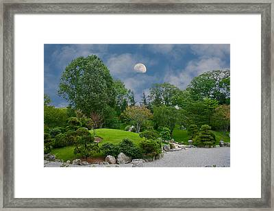 Framed Print featuring the photograph Moonrise Meditation by Charles Warren