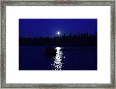 Moonrise On A Midsummer's Night Framed Print by David Porteus