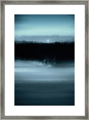 Moonrise On The Water Framed Print by Scott Norris