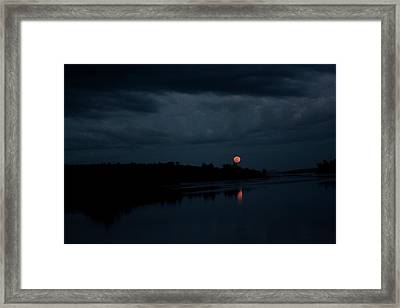 Moonrise Over Blue Hill Bay Framed Print