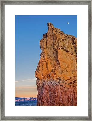 Moonrise Over Bryce Canyon Framed Print by Duane Miller