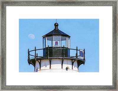 Moonrise Over Edgartown Lighthouse Framed Print