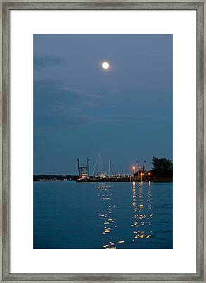Moonrise Over Montauk Framed Print by Art Block Collections