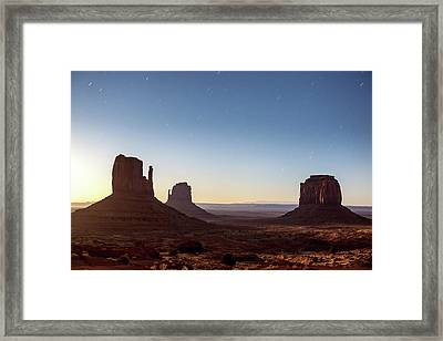 Moonrise Over Monument Valley Framed Print
