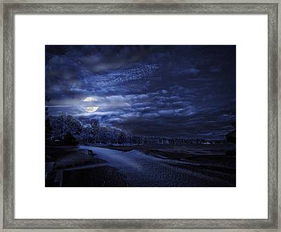 Moonrise Over Pymatuning Lake Framed Print
