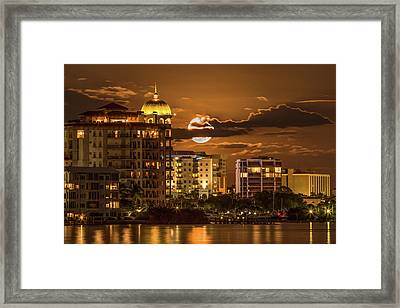 Moonrise Over Sarasota Framed Print