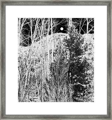 Framed Print featuring the digital art Moonrise Over The Mountain by Will Borden