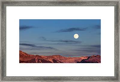Moonrise With Afterglow Framed Print