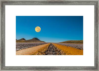 Moonrise Wyoming Framed Print
