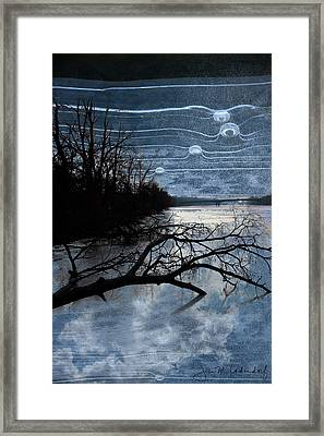 Moons Framed Print by Joan Ladendorf
