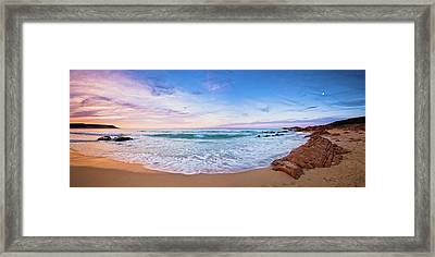 Framed Print featuring the photograph Bunker Bay Sunset, Margaret River by Dave Catley