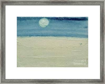 Moonshadow Pearl Framed Print