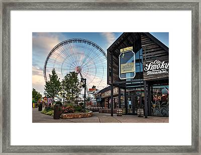 Moonshine And The Spinning Wheel Framed Print
